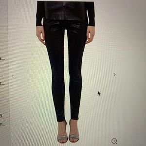 Ted Baker Renna black coated jeans with lace